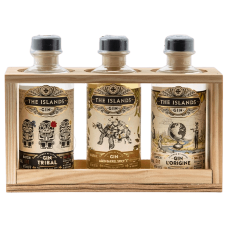 Coffret gin the islands 3 cuvées